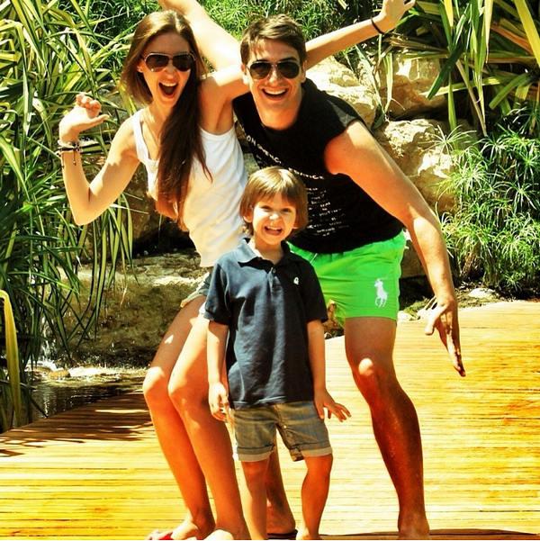 Бондаренко с семьей